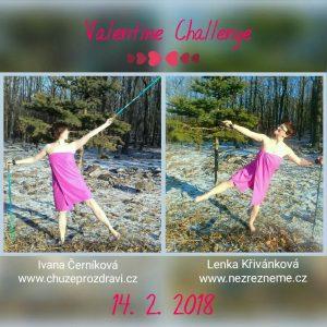 Naše Valentýnská výzva 2018 - bosý nordic walking na sněhu :)