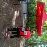 S dcerou Veronikou na 3. ročníku benefičního závodu Nordic Walking Challenge na podporu nevidomých v Řevnicích.