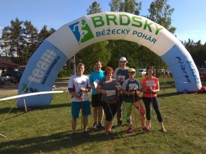 Nordiková parta na závodě Brdského poháru, 12 km v nohách, Bohutín 2018