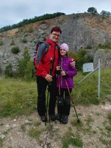 S dcerou Veronikou - lomy u Srbska