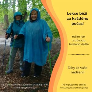 Nepřízeň počasí? Lekce ruším jen v případě trvalého deště. Lenka Křivánková, Nezrezneme.cz