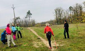 ukázka rychlostí chůze Nordic Walking