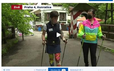 Nordic walking živě na ČT24