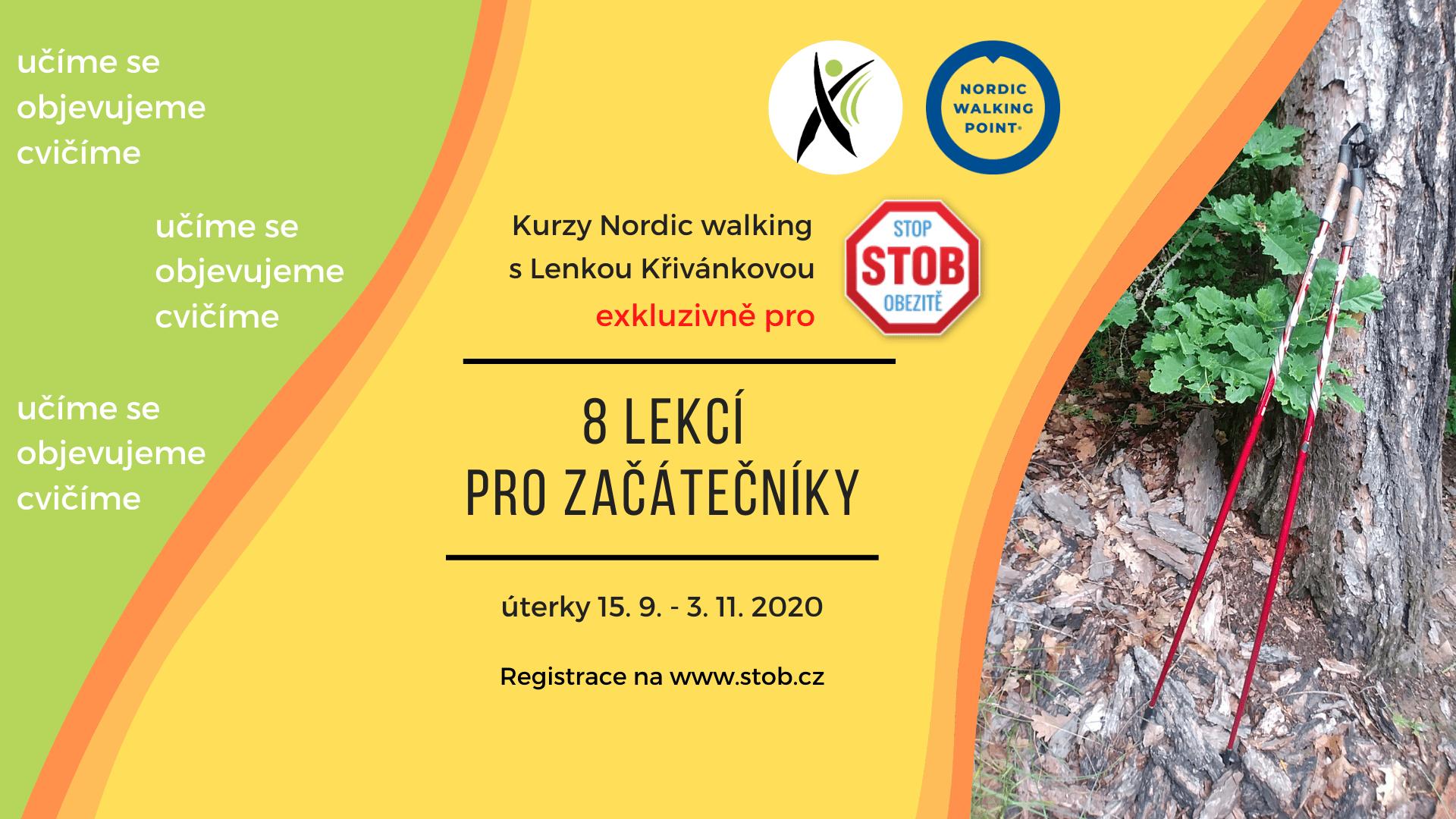 Podzimní kurz nordic walking pro úplné nováčky, exkluzivně pro STOB - Stop obezitě! Objevte pohyb, u kterého (konečně) vydržíte :) Pojďte se zdravě hýbat se zkušenou instruktorkou Lenkou Křivánkovou v královské Oboře Hvězda v Praze 6-Liboci!